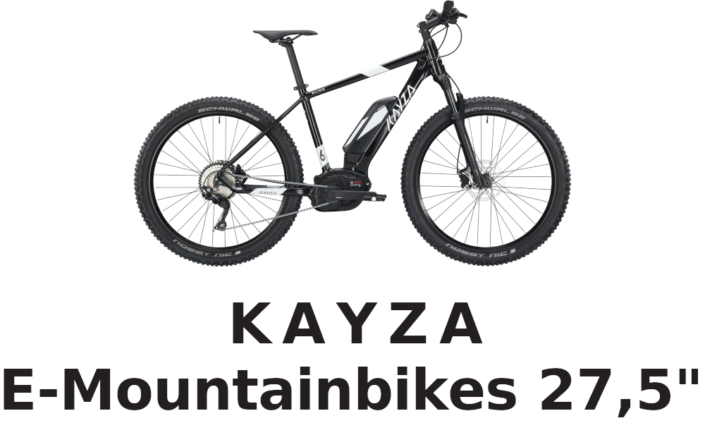 KAYZA E-Mountainbikes 27,5""