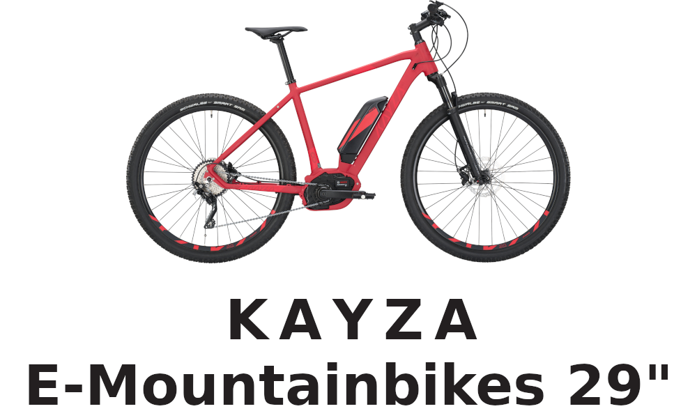 KAYZA E-Mountainbikes 29""